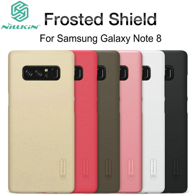Nillkin Frosted Shield Case For Samsung Galaxy Note 8 N950F SM-N950F Ultra Thin Slim Hard Back Cover Case with Free Film NS02