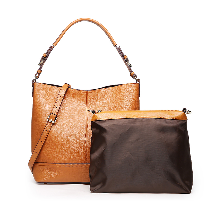 LUODUN2018 damer Äkta läder väska nya handväskor mode enkel - Handväskor - Foto 4