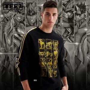 Image 2 - Tee7 Saint seiya fashion sweatshirt Mens pullover sweatshirt top quality valentines day birthday gift