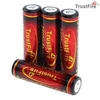 4pcs TrustFire 3.7V 3400mAh 18650 Li ion Rechargeable Battery High Capacity with Protected PCB for LED Flashlights / Headlamps