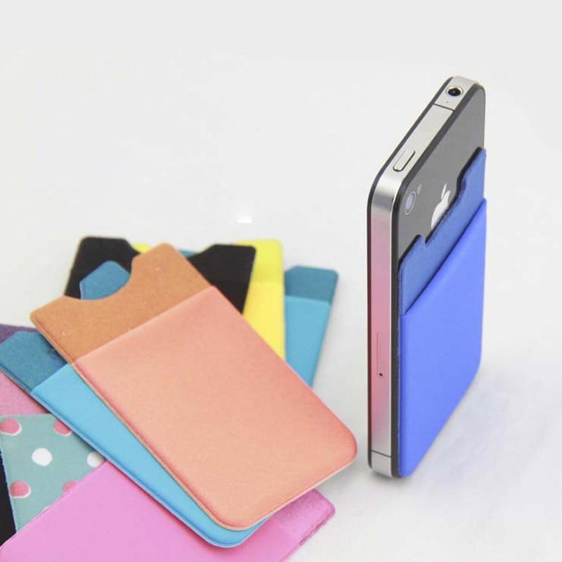 bolso de la bolsa titular de la tarjeta de crédito flexible para iphone se case 6 s Plus Nota 5 S6 S7 Borde Más Casos de Teléfono de Nuevo En Stock + número de seguimiento libre
