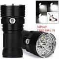 Super 34000LM 14 x CREE XM-L T6 LED Flashlight Torch 4x 18650 Hunting Light Lamp Lot 170120