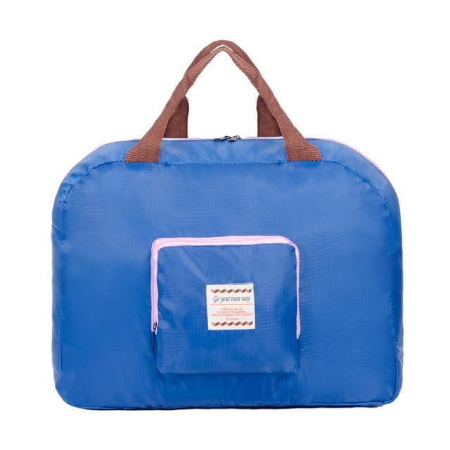 Portable Folding Travel Storage Bag Polyester Nylon Waterproof Print Large  Capacity Foldable Suitcases Handbag Shoulder Tote Bag e35c90119e34c