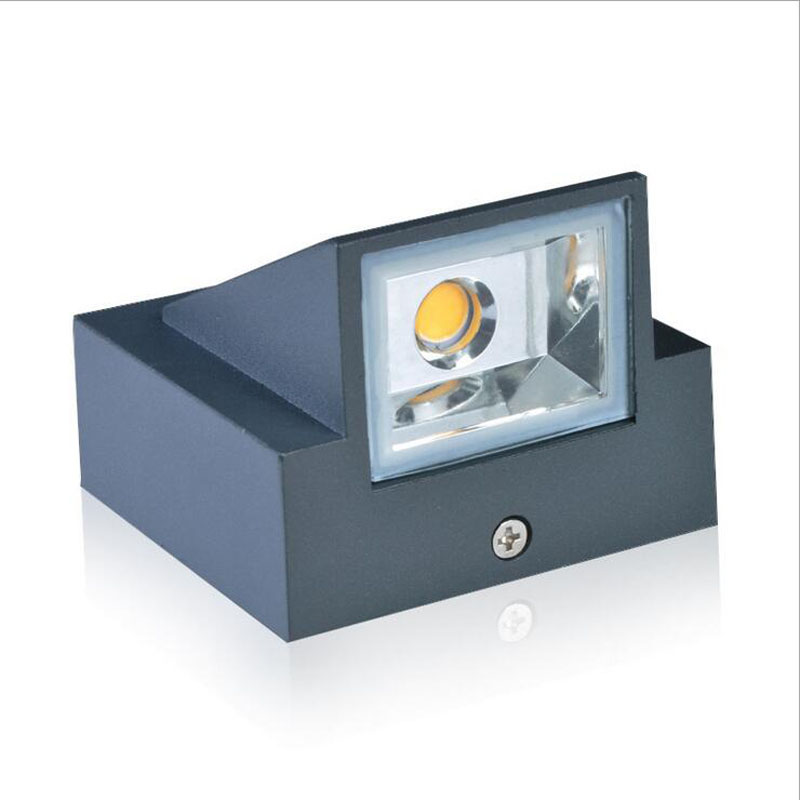 Lámpara de pared LED de un solo cabezal, impermeable, IP65, luz de pasillo de jardín, aplique de pared de aluminio fundido a presión para interiores y exteriores