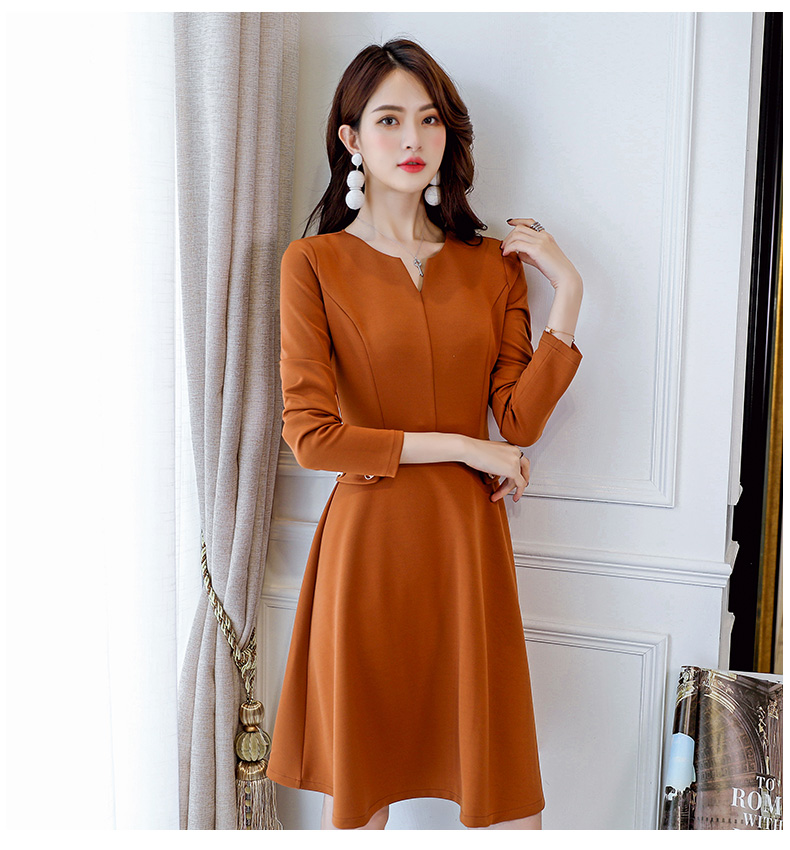 966565d33fdb2 16 25year young Girls dresses 2019 new spring slim long sleeve lady ...