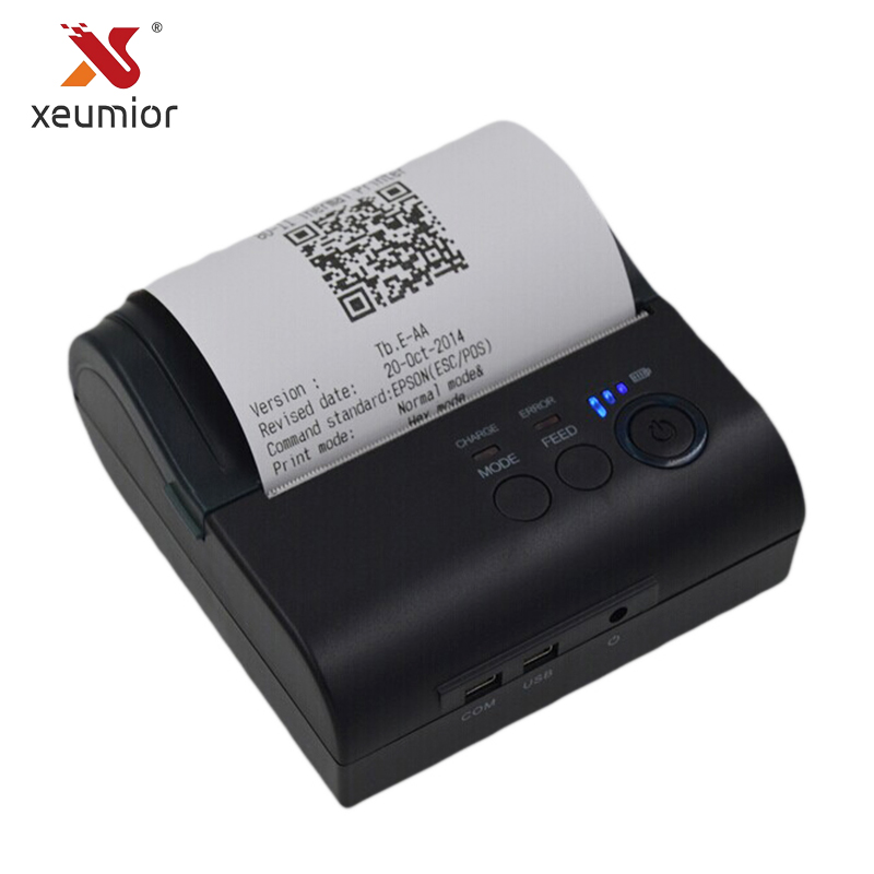 Xeumior 80mm Mini Mobile Thermal Receipt Printer Android Label Barcode Printer With Free SDK Portable Bluetooth 4.0 Printer cheap 80mm portable usb thermal printer with free android ios sdk mobile bluetooth ticket printer for pos impressora termica