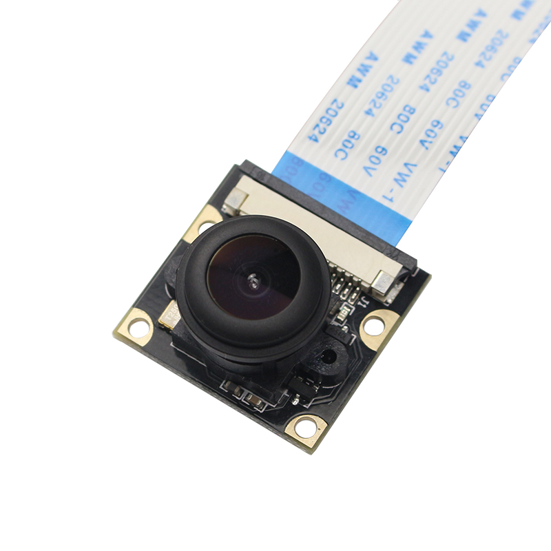 Raspberry Pi 4 Model B Night Vision Camera 5MP Wide Angle 135 Degree Fisheye Lens 1080P Camera Module for Rasberry Pi 4B/3B+/2B
