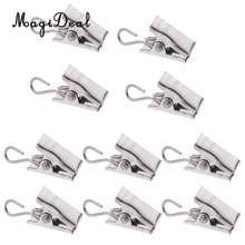 10Pcs Heavy Duty Gordijn Clips Met Haak Deur Panel Lente Klemmen Gordijn Hanger Clips Carrier(China)