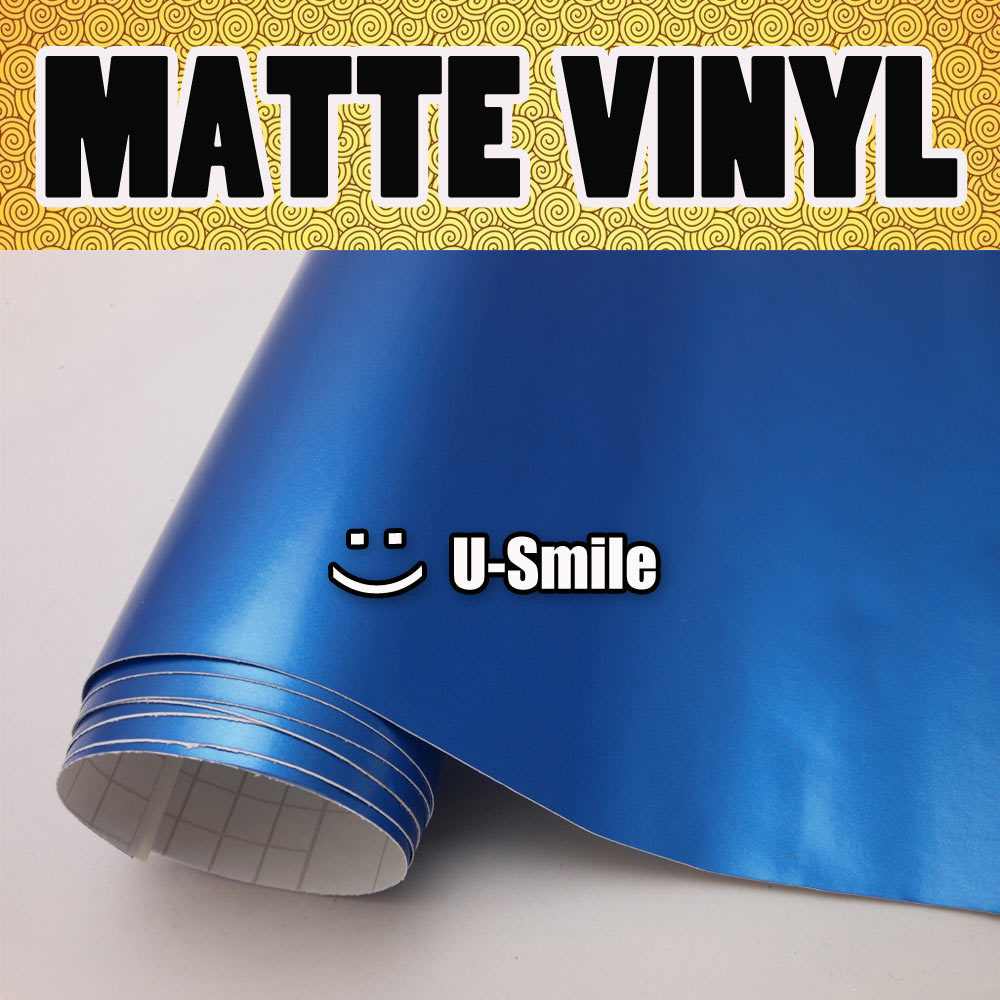 Biru matte vinyl mobil listrik listrik biru satin vinyl wrap untuk mobil stiker ukuran 1 5230 m gulungan