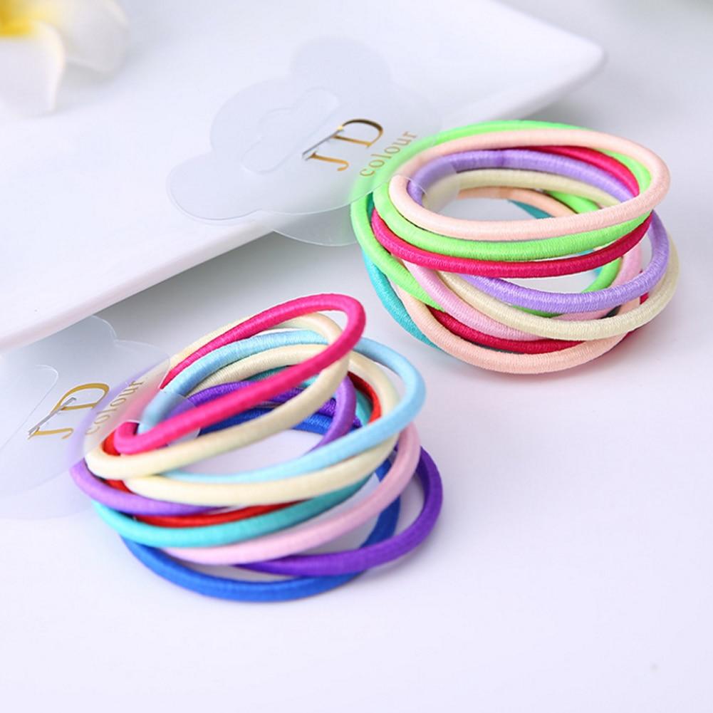 New Fashion 10pcs/set card packaging rubber band Elastic Hair Bands Hair Accessories KIDS Gum Hair Styling