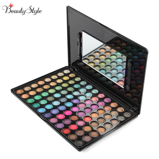 Cool 88 Colors Neutral Eyeshadow Eye Shadow Cosmetics Mineral Make Up Professional Shimmer Makeup Pigment Palette Kit & Mirror