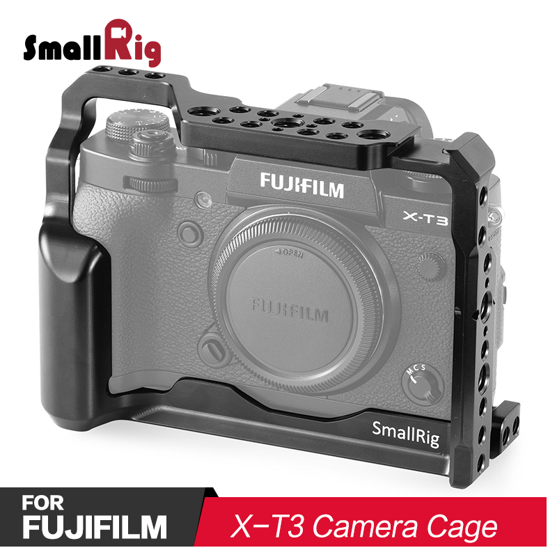 SmallRig DSLR Camera Cage for Fujifilm X T3 Camera With Comfortable Handle Grip Quick Release Nato Rail Arri Locating Hole 2228 in Camera Cage from Consumer Electronics