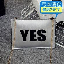 Sommer 2016 HARAJUKU personalisierten brief tag handtasche schulter kreuzkörper handtasche der frauen
