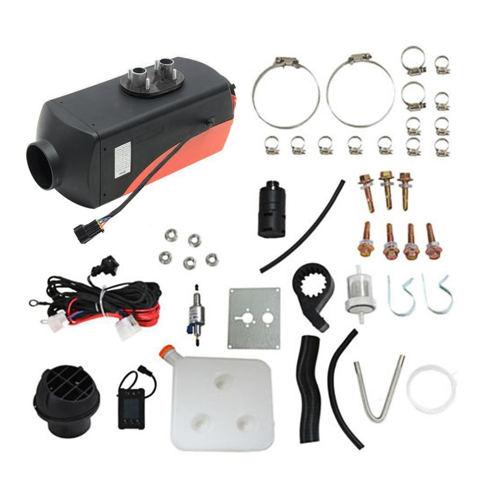 New12V 3KW парковка Дизельный Нагреватель воздуха Одноместный-переключатель отверстия с глушителем универсальный для бака вентиляционный кан...