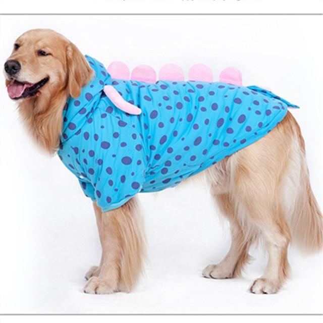 7566418964d2 Large Dog Coat Jacket Funny Dog Clothes Samoyed Golden Retriever Husky  Labrador Big Dog Clothing Outfits Warm Big Pet Apparel