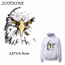 ZOTOONE Iron on Stickers Patches for Clothes Eagle Patch DIY Accessory A-level Washable Heat Transfer Appliques C