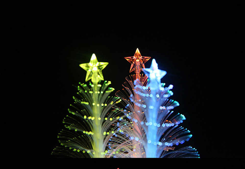 Caliente 2018 feliz LED que cambia de Color Mini árbol de Navidad mesa de hogar Decoración encanto suministros de fiesta brillante
