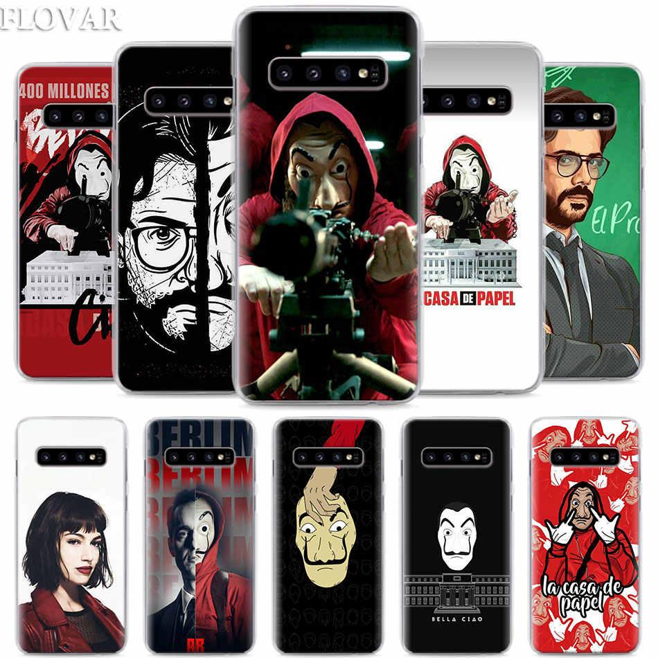 La Casa De Papel Caixa Do Telefone Para Samsung Galaxy S10e S10 S20 S20 Ultra S7 S8 S9 Mais Nota 8 9 10 Mais 5g Caso Duro Coque Caso De Telefone Covers Aliexpress