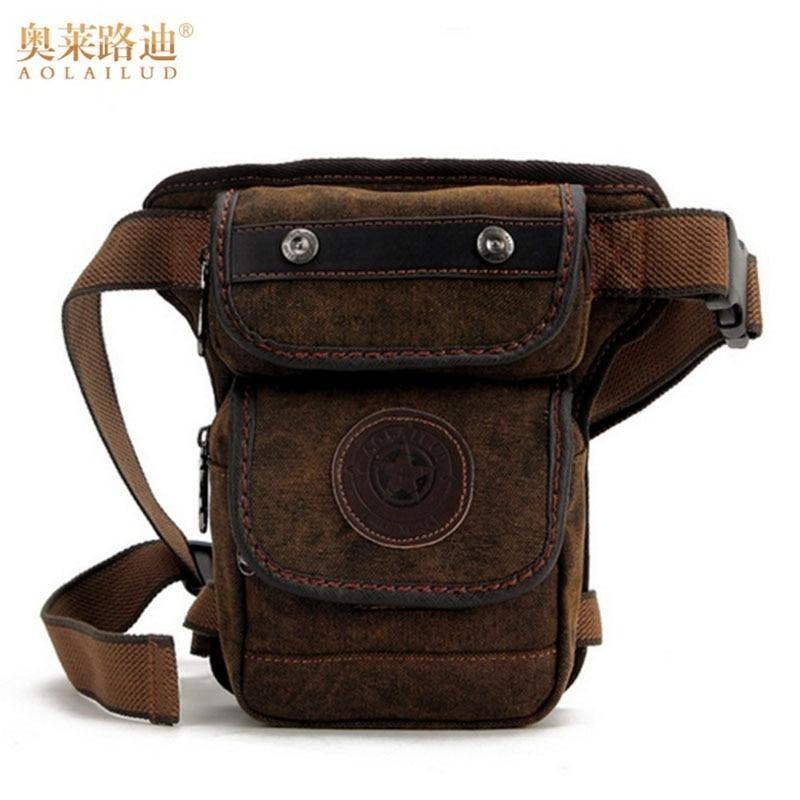 Vīriešu audekls Vintage Drop Leg Bag Fanny viduklis Pack Messenger plecu somas militāro taktisko uzbrukumu motociklu braucējs hip Bum Belt