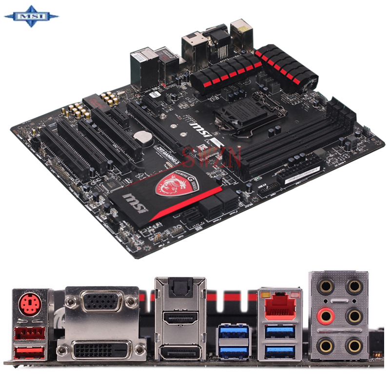 original Used Desktop motherboard For msi Z97 GAMING 3 Z97 support LGA 1150 4*DDR3 support 32G 6*SATA3 USB3.0 ATX