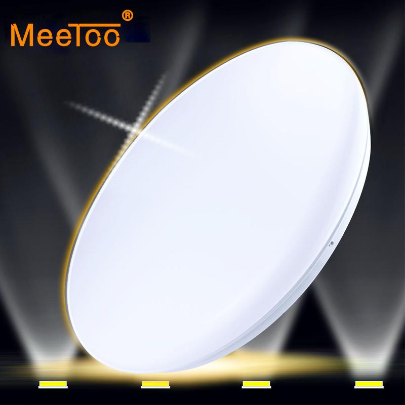 meetoo lmpara de techo led panel lmpara v del panel llevado redondo luces w