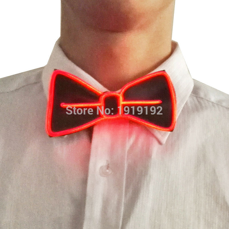 For DJs,ELbow Tie for party ,bar,club, 2017 Steady on Driver 10 Color Fashion Design Glowing Flashing LED Bow Tie electroniC ...