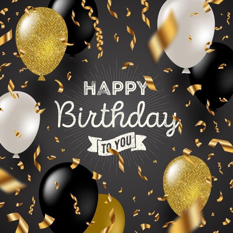 Laeacco Cartoon Balloons Ribbon Wall Baby Birthday Celebration Scene Photographic Backgrounds Photography Photo Backdrops Studio