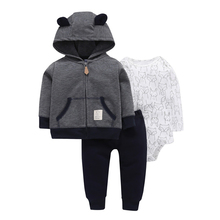 Baby Boy Girl Clothes Set Cotton Long Sleeve Hooded Jacket+pant+rompers New Born Infant Toddler Outfits Unisex Newborn Clothing 7pcs newborn baby set 0 3m new infant clothing suit newborn cotton new born baby boy girl clothes winter autumn unisex outfit