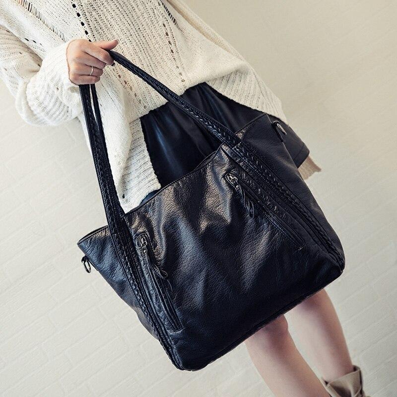 Crossbody Bags For Women Leather Handbags 2018 Fashion Women Messenger Bags Shoulder Bag Female Big Bucket Bag Designer WYQ177 6