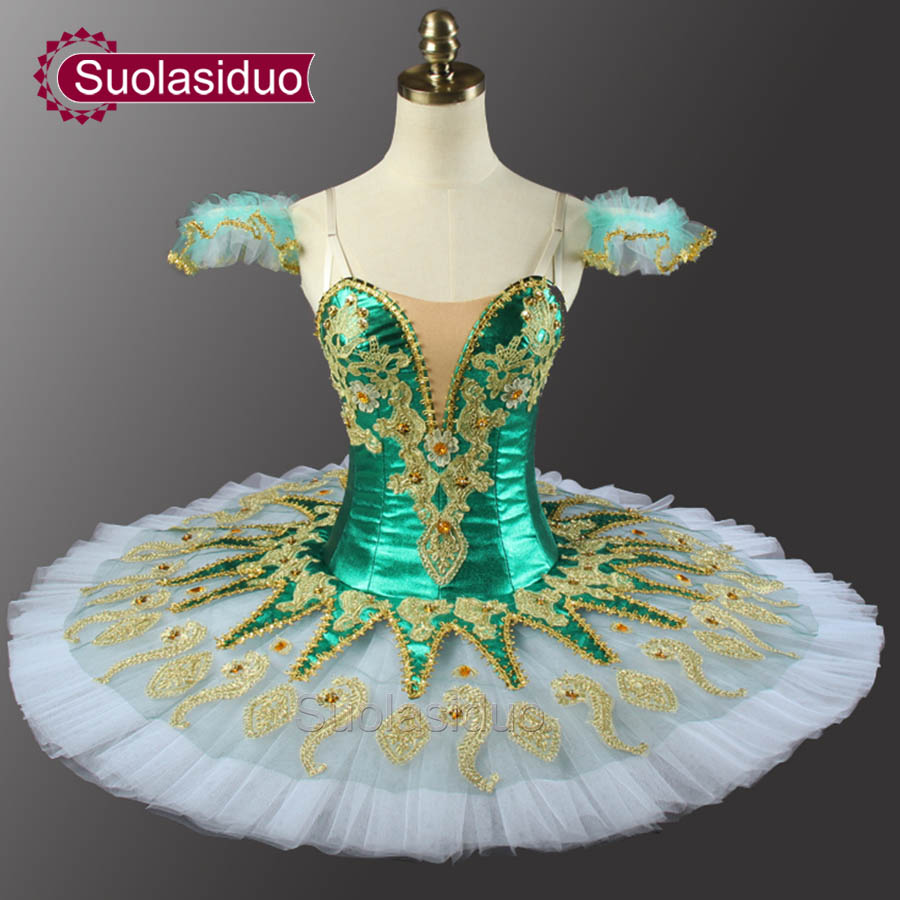 Green Classical Ballet Tutu Stage Wear Costumes Don Quixote Ballet Dance Performance Competition Apperal Adult Rose Red Ballet in Ballet from Novelty Special Use