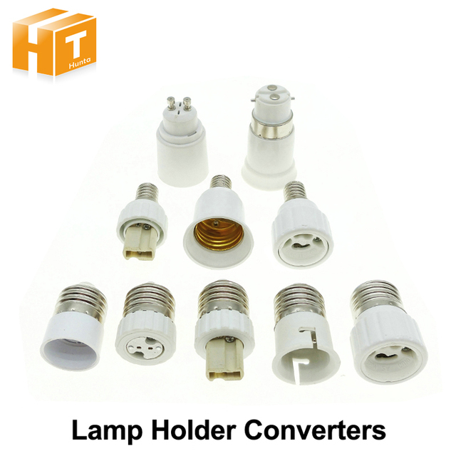 Lamp Holder Converters GU10 / G4 / G9 / MR16 / B22 / E14 to E27, E27 / GU10 / G9 to E14 Lamp Base.