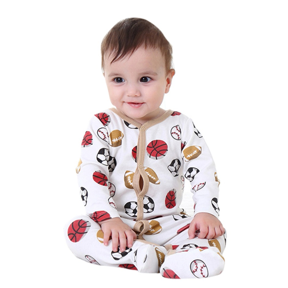 3-12 Months Newborn footies Winter Baby Clothes Tiny Cotton Baby footies Long Sleeve Newborn Clothes Infant footies