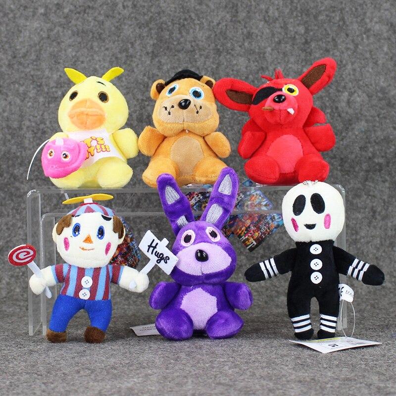 10 12cm 6Styles Five Nights At Freddy s FNAF Freddy Bear Foxy Bonnie Chica Plush Toys