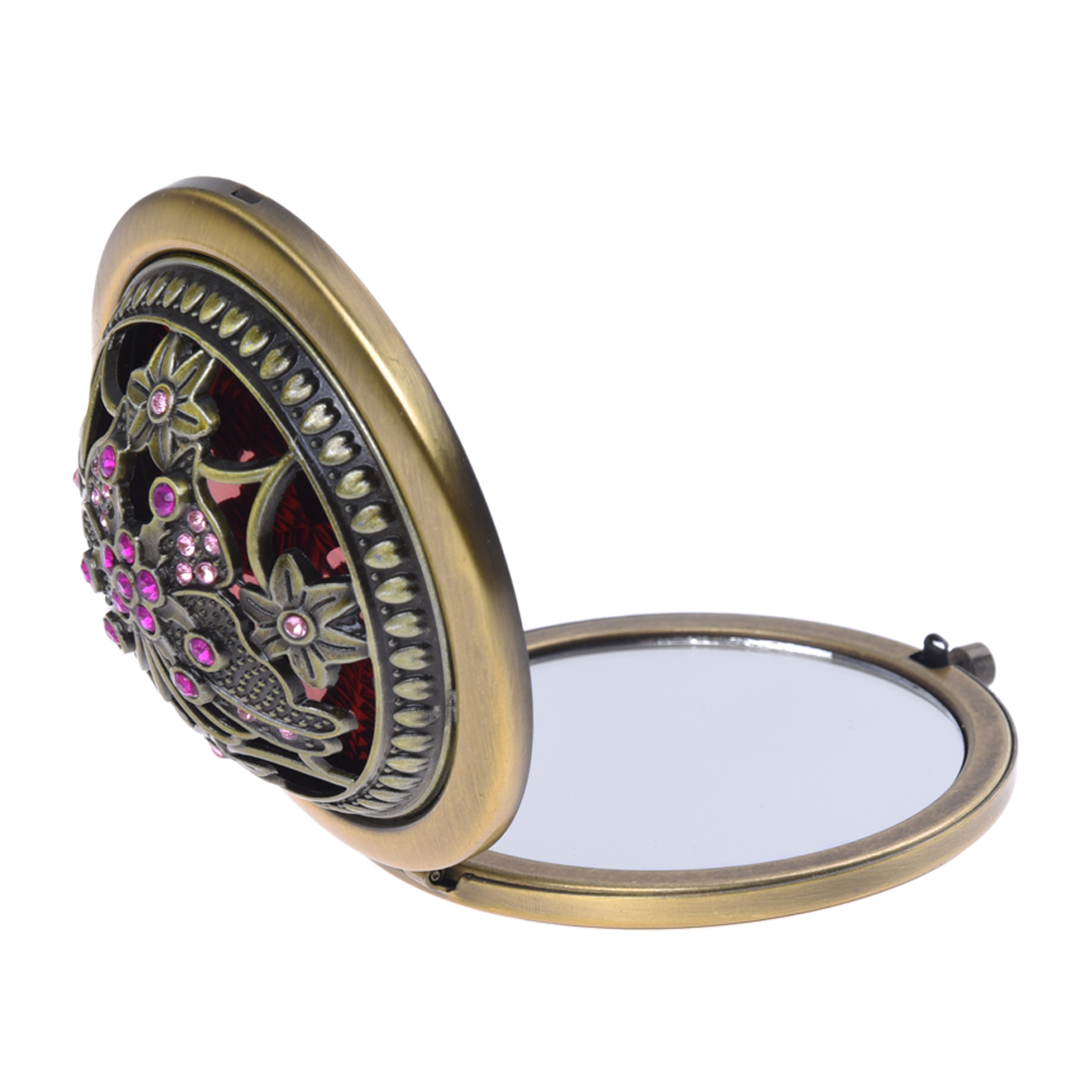 Fein Bronze Spiegel Retro Kompakte/reise/tasche Beleuchtet Schönheit Make-up Spiegel Neue Clear-Cut-Textur Schönheit & Gesundheit Haut Pflege Werkzeuge