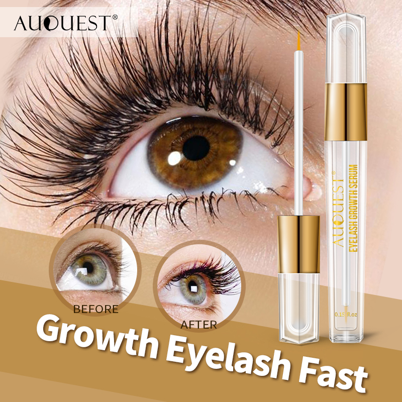 11.11 AuQuest Natural Eyelash Growth Serum Fuller Darker Longer Lashes Extensions Eyelash Enhancer Lash Essence Beauty Eye Care