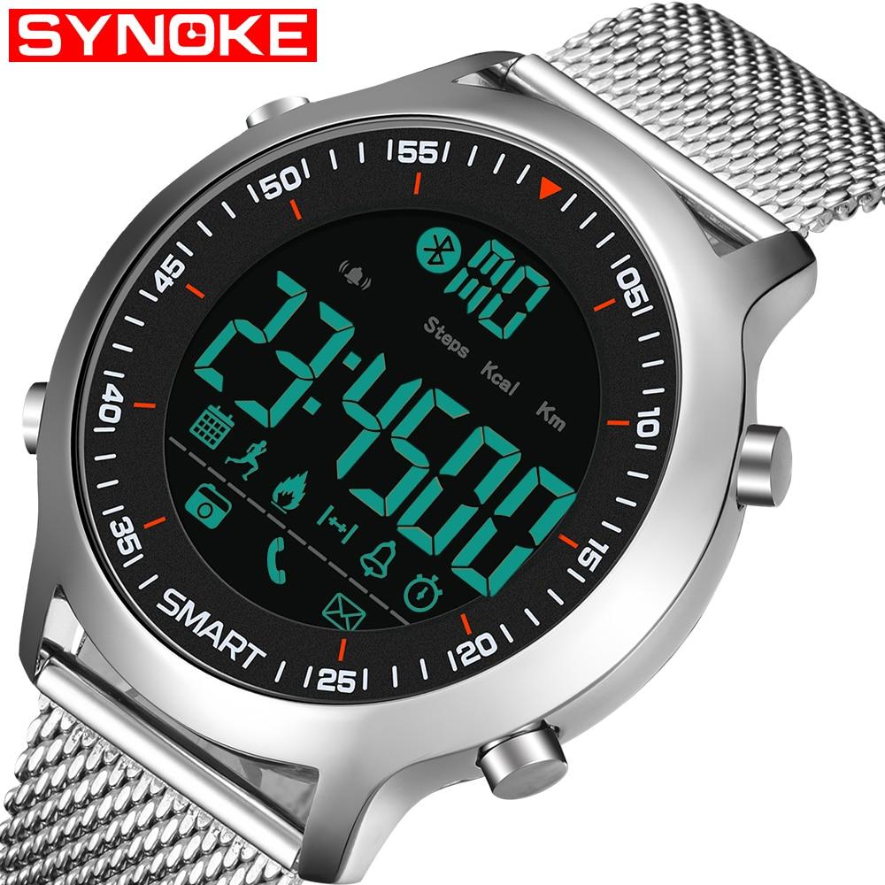 Bluetooth Clock Male Smart Watch Run Pedometer Diving Outdoor Sports Watch 50M Waterproof LED Digital Men Wristwatch IOS Android цена и фото