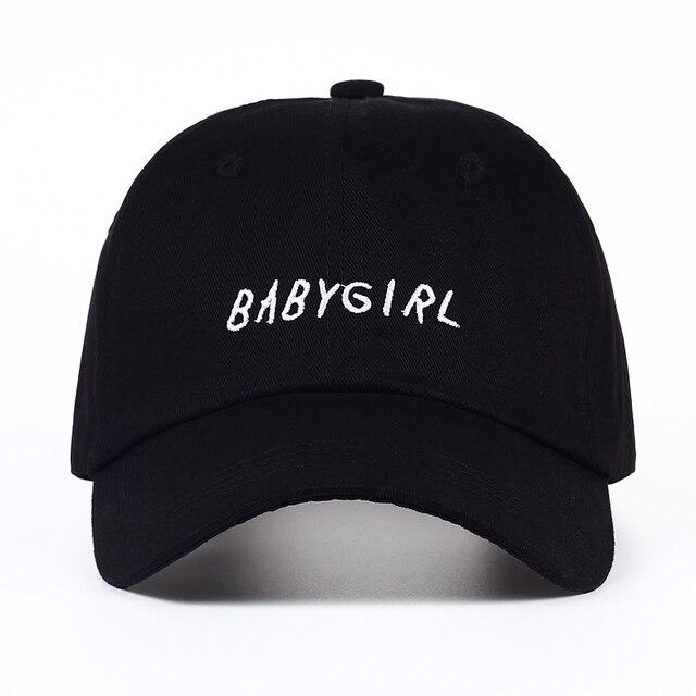 2017 new Baseball Cap BABYGIRL Embroidery baseball cap Fashion Hats Dad Hat  men women Black white snapback baseball cap 39e8377c0c98