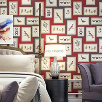 Meters american style wallpaper tv background wall fashion decorative painting frame entranceway wallpaper