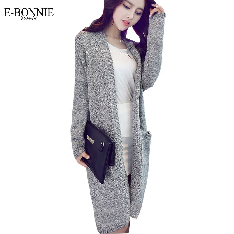 New han edition long sleeved long sweater hemp gray cardigan ...
