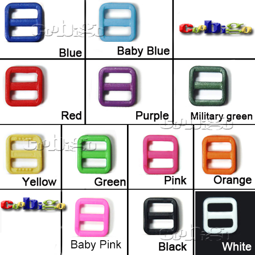 10pcs 5/8 Mixed Color Slider Tri Glide Adjust Buckles For Dog Collar Harness Backpack Straps Webbing 15mm #flc092-c The Latest Fashion mix-s