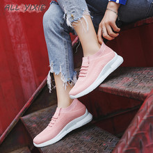ALL YIXIE 2019 New Womens Platform Sneakers Fashion Summer Mesh Breathable Women Casual Shoes Flats Zapatos De Mujer