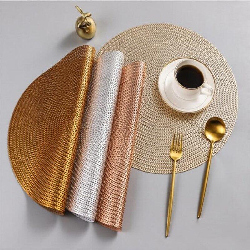 38 CM rond PVC napperon cuisine Table à manger tapis Steak Pad Anti-échaudage tampons d'isolation INS nordique hôtel Restaurant décor à la maison