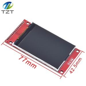 """Image 4 - 2.4"""" 240x320 SPI TFT LCD Serial Port Module+5V/3.3V PBC Adapter Micro SD ILI9341 White LED with touch/No touch for Arduino"""