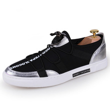 New Arrival Popular High Quality Stretch Fabric Cloth Slip On Style Young Man Casual Shoes