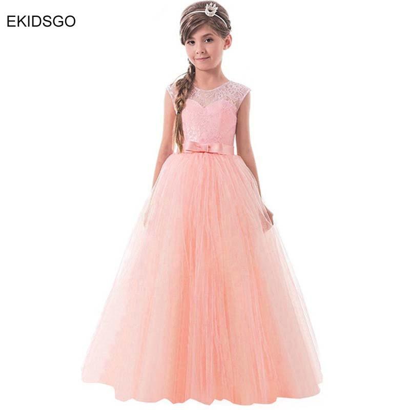 2018 Big Girls Party Costume Kids Formal Dresses For Weddings