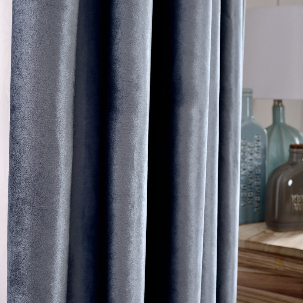 P O F Curtain for living room or bedroom Solid more colors Italian flannel classic accept custiomzation free shipping in Curtains from Home Garden