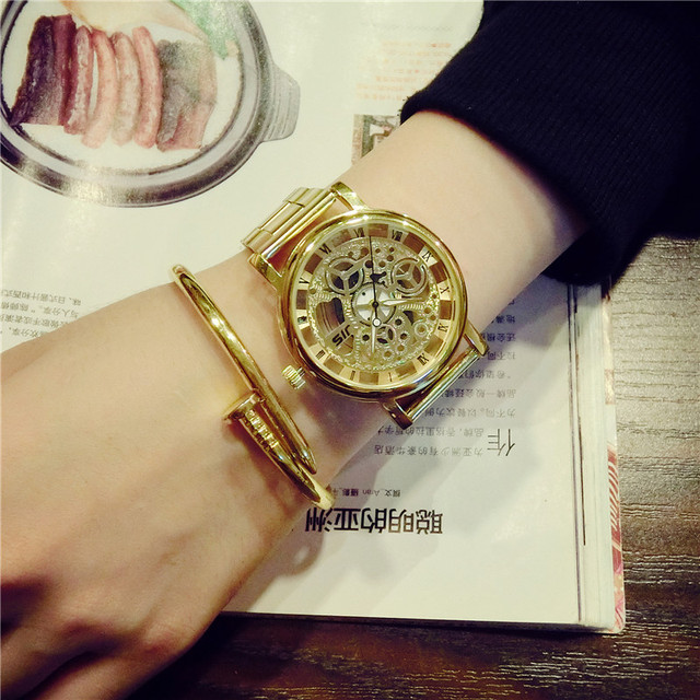 Woman Metallic Chronograph Watch