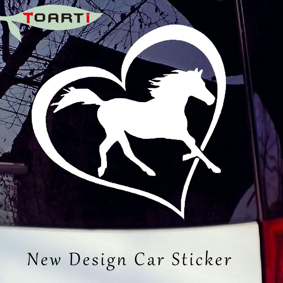 HORSE HEART Vinyl Decal Sticker Mobil Jendela Bumper Dinding Cinta Simbol Pony Lucu Vinyl Styling Mobil Aksesoris