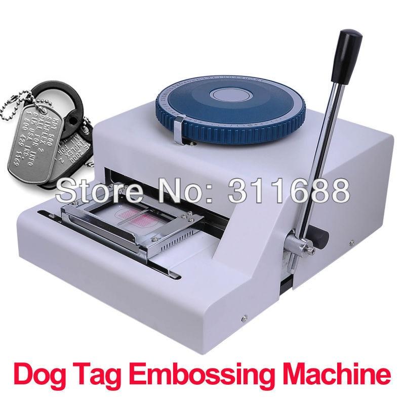 Metal Stamping Machine Tool Belarus: 52 Manual GI Steel Metal Dog Tag Tags Embosser ID Card