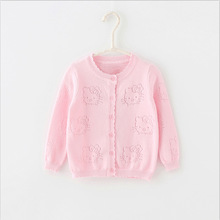 Children's clothes women sweater 2017 knitted cardigan spring and autumn autumn and winter child summer time shirt hole cardigan